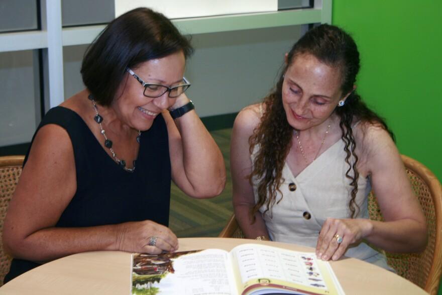 Manatee Literacy Council Executive Director Lillian Santiago Bauza and adult English language learner, Cecilia Cortez, a native of Colombia.