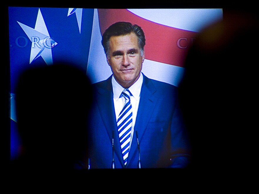 Former Massachusetts Gov. Mitt Romney at the Conservative Political Action Conference in 2010.