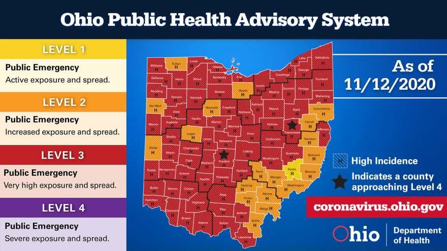 Ohio Public Health Advisory Map