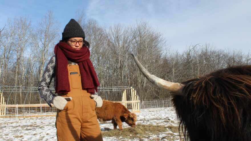Marya Gelvosa, 29, didn't grow up dreaming of being a farmer — in fact, as of a few years ago, she'd never even lived in the countryside. Now she and her partner Josh Gerritsen raise Highland cows and pastured eggs for a living.