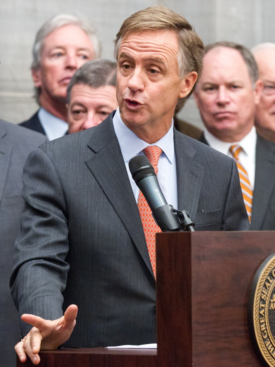 Gov. Bill Haslam announces his proposal to expand Medicaid in Tennessee on Dec. 15. Under the plan, the hospital association would pay the state's portion of the program.