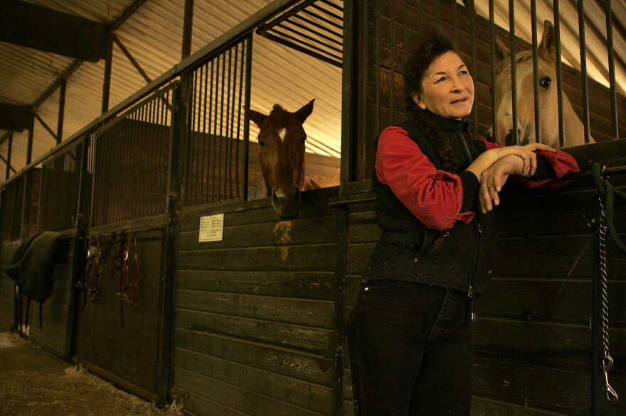 Gail Ruffu photographed at a horse boarding barn near her home in Los Angeles in 2007.