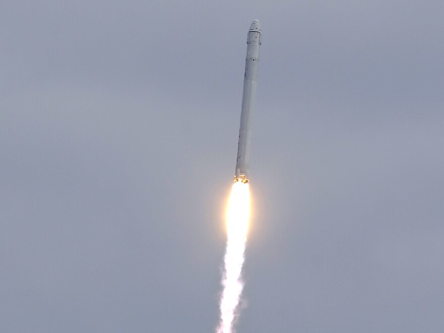 The Falcon 9 SpaceX rocket lifts off from at the Cape Canaveral Air Force Station on Friday.