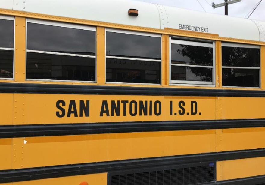 San Antonio ISD school bus.