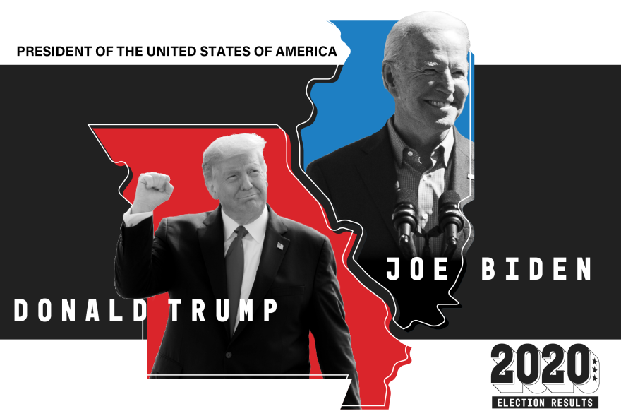 President Donald Trump again won Missouri after carrying it by nearly 20 percentage points in 2016. Former Vice-President Joe Biden won Illinois.