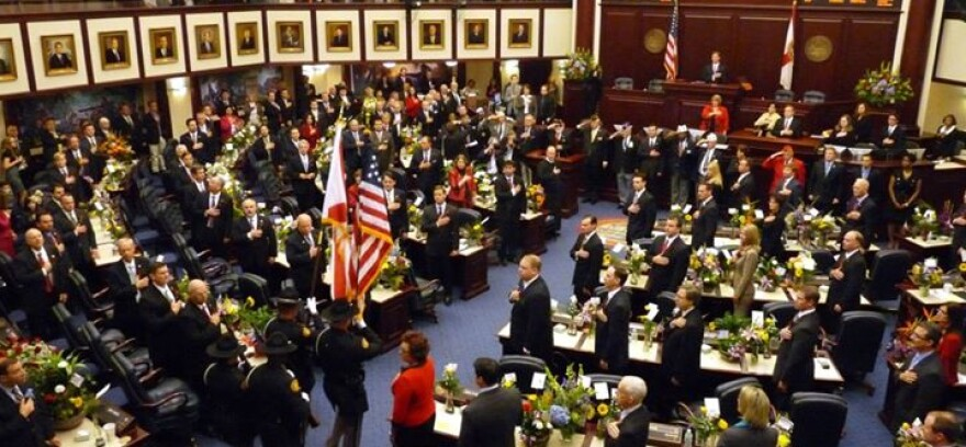 The Florida House Chamber in Tallahassee.