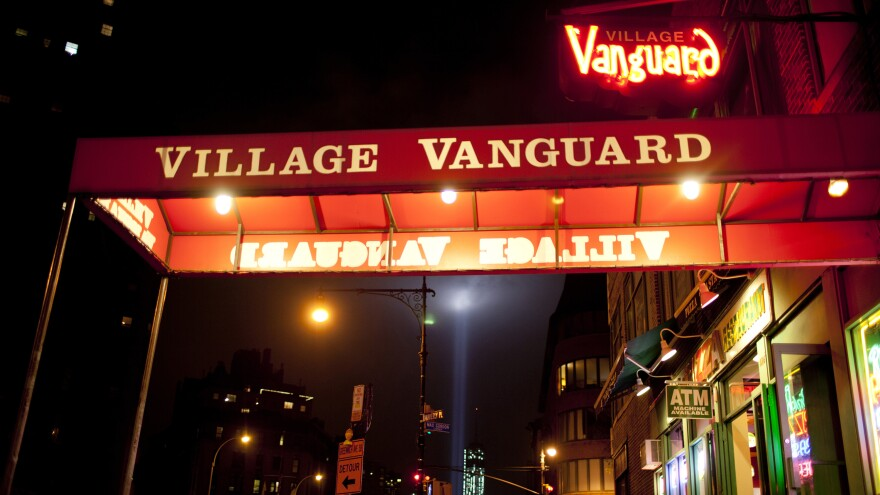 Outside the Village Vanguard in New York.