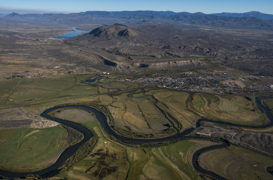 The Colorado River snakes its way near Kremmling, Colo.