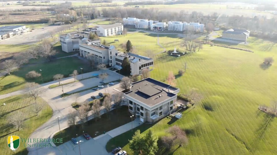 An aerial view of Wilberforce University, the nation's oldest private HBCU.