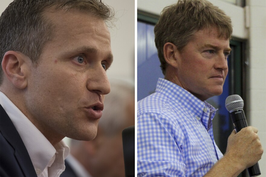 Eric Greitens, left, and Chris Koster