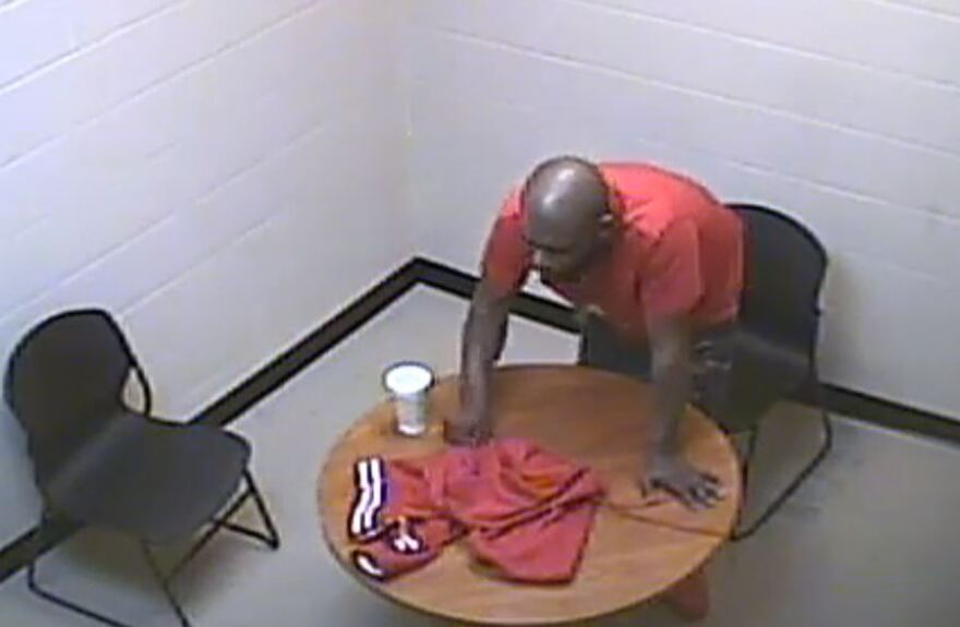 CMPD video shows Harold Easter alone in an interview room moments before he collapsed in convulsions on Jan. 23. He died three days later.