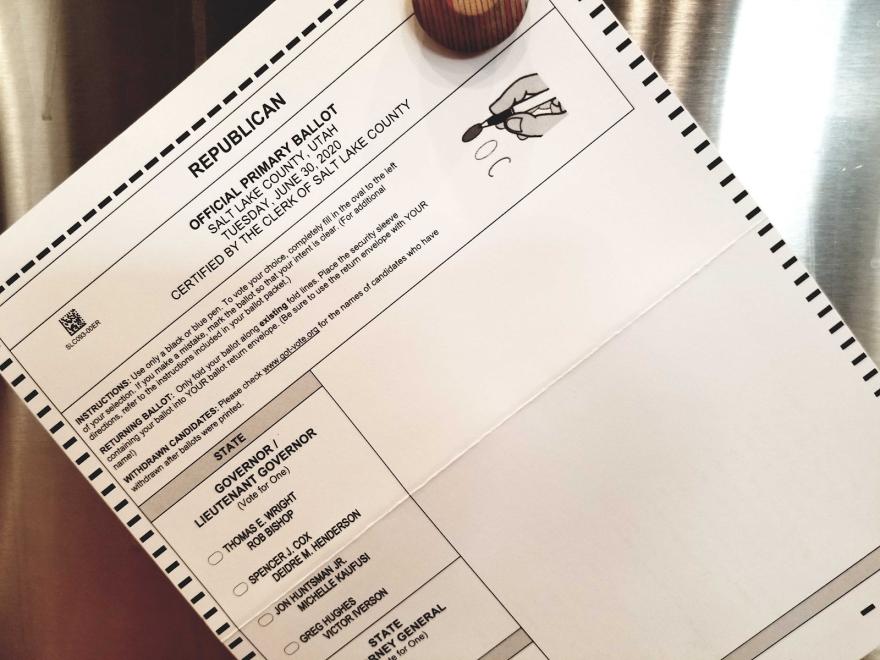 Photo of primary ballot.