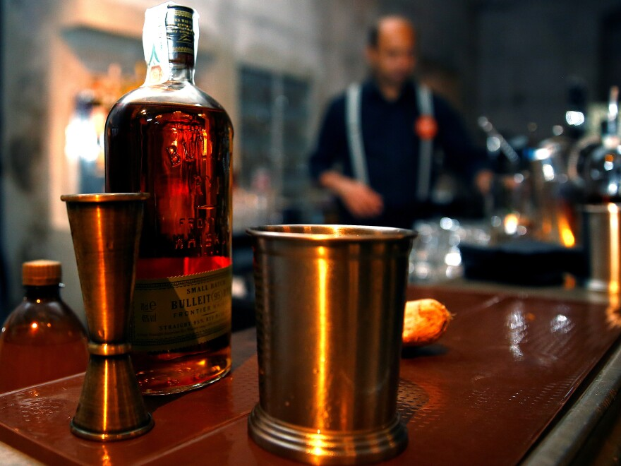 U.S.-made bourbon whiskey is now under a 25 percent tariff in the European Union, in retaliation for the Trump administration's tariffs on steel and aluminum.