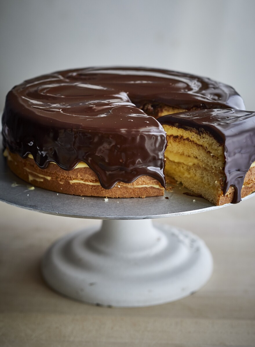 Garten's reimagined Boston cream pie.