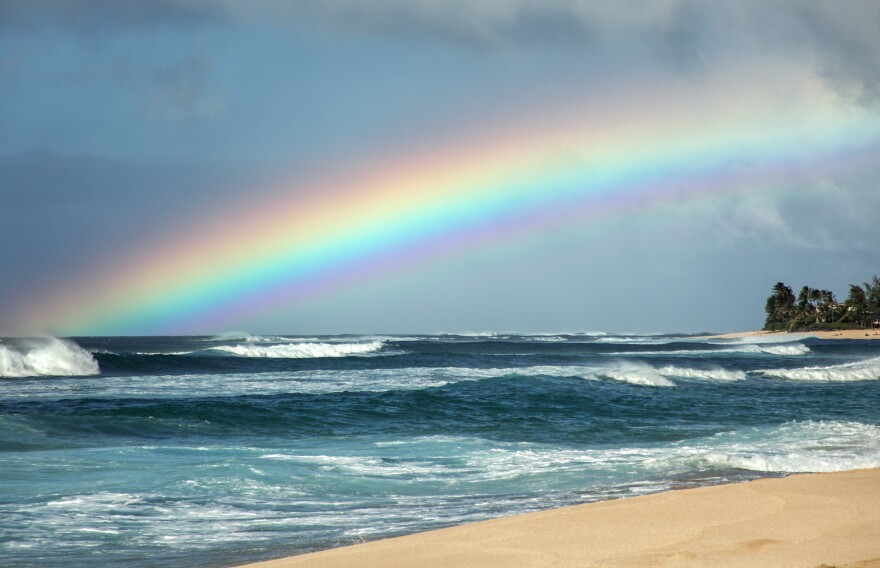 We might all feel a lot better if we saw a view like this, from the North Shore of Oahu, every day.