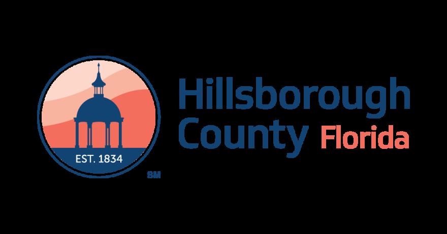 The Hillsborough County orange and blue logo