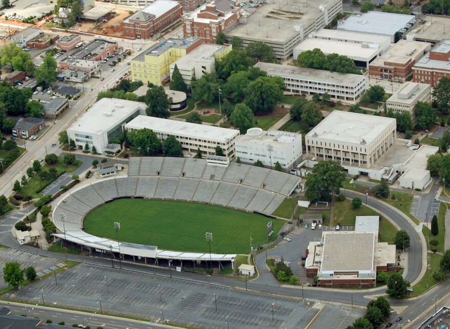 Memorial Stadium in Elizabeth would be torn down and a new soccer stadium built, under the plan.
