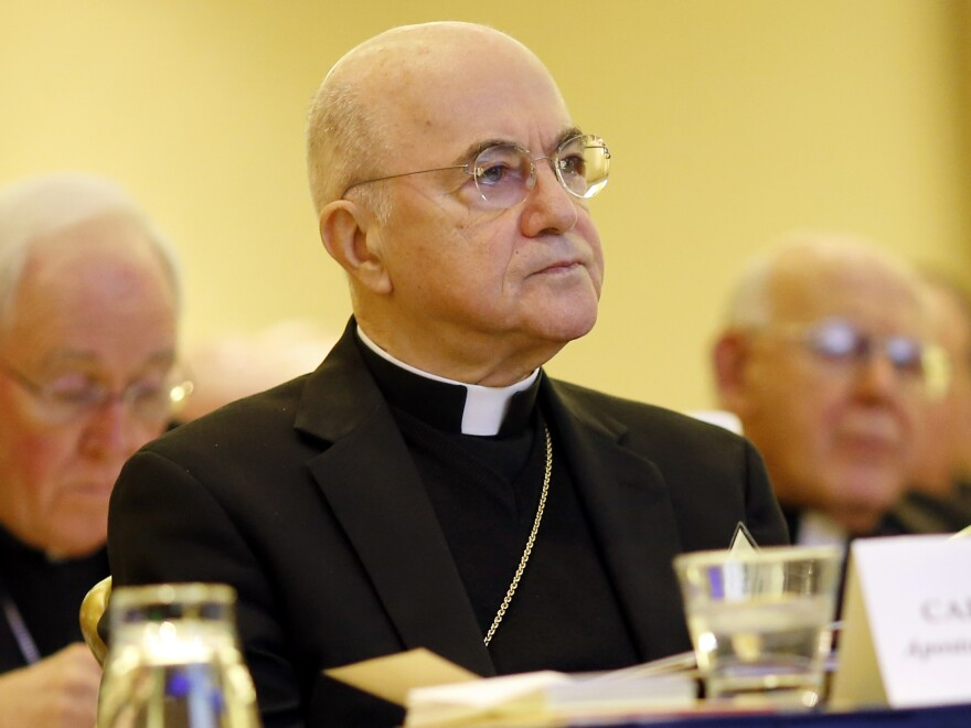 Archbishop Carlo Maria Viganò, a staunch critic of Pope Francis, alleges in a letter that the pope knew about allegations of sexual misconduct against disgraced former Cardinal McCarrick for years.