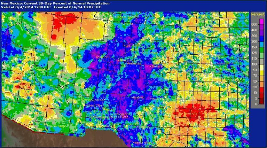 After years of drought, New Mexico is now experiencing an unusually high amount of rainfall.