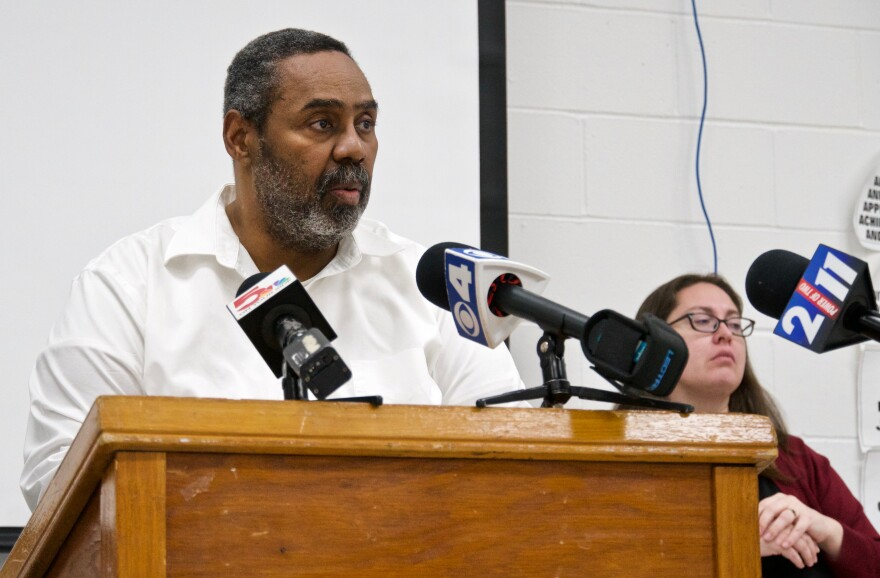 St. Louis Corrections Commissioner Dale Glass speaks about the living conditions at the City Justice Center during a press conference on Feb. 8, 2021.