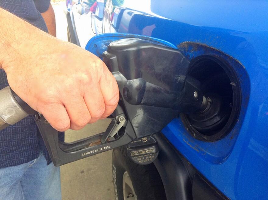 A gas pump.