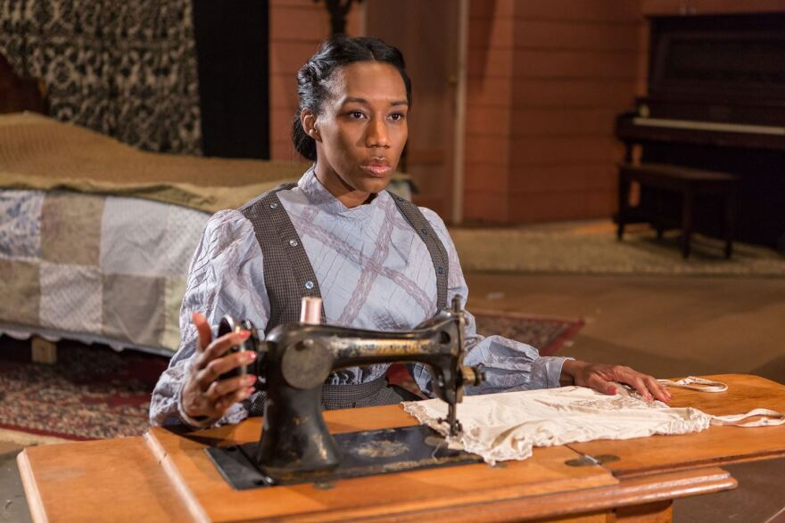 """Jacqueline Thompson plays the role of Esther in New Jewish Theatre's """"Intimate Apparel.""""  She appears in this file photo."""