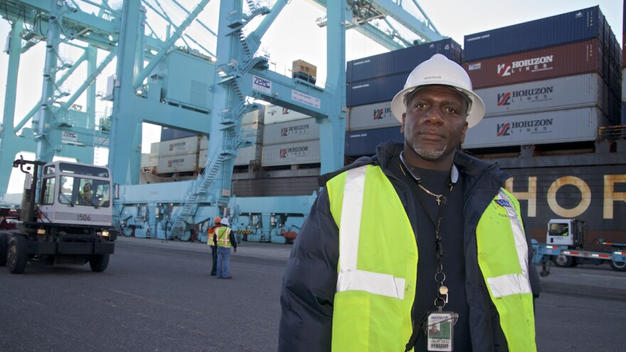 Vince Cameron has worked the docks at the Port of Jacksonville for more than three decades. If the city doesn't deepen the port, he says, a new breed of massive cargo ship will instead go to Savannah, Ga., or Charleston, S.C.