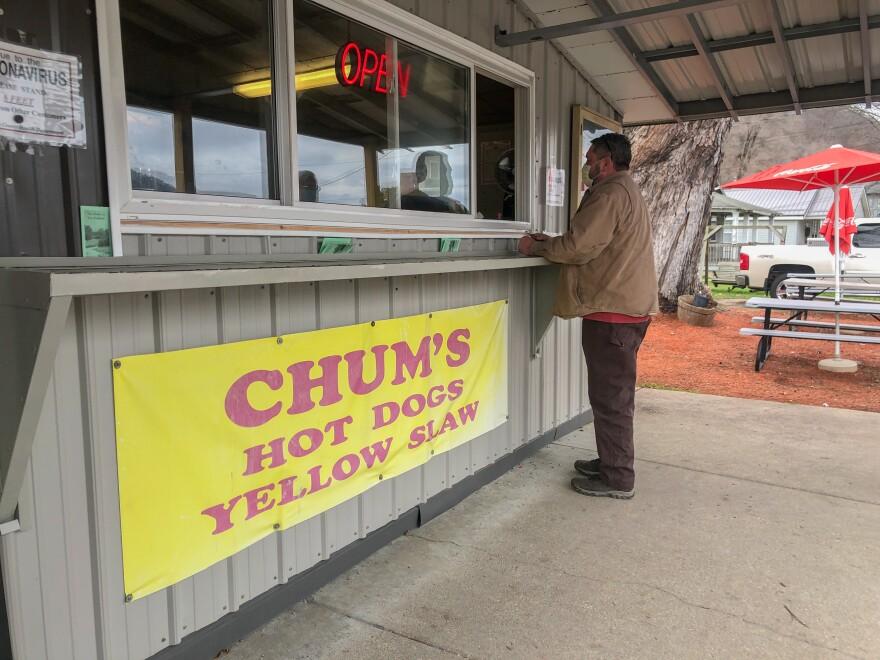 Chum's hotdog stand in Marmet, W.Va.