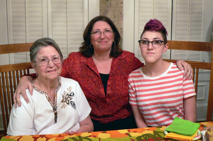 Bernice Singleton (left), one of the original mothers in the research project, is seen with her daughter Jenny and granddaughter Gretta.