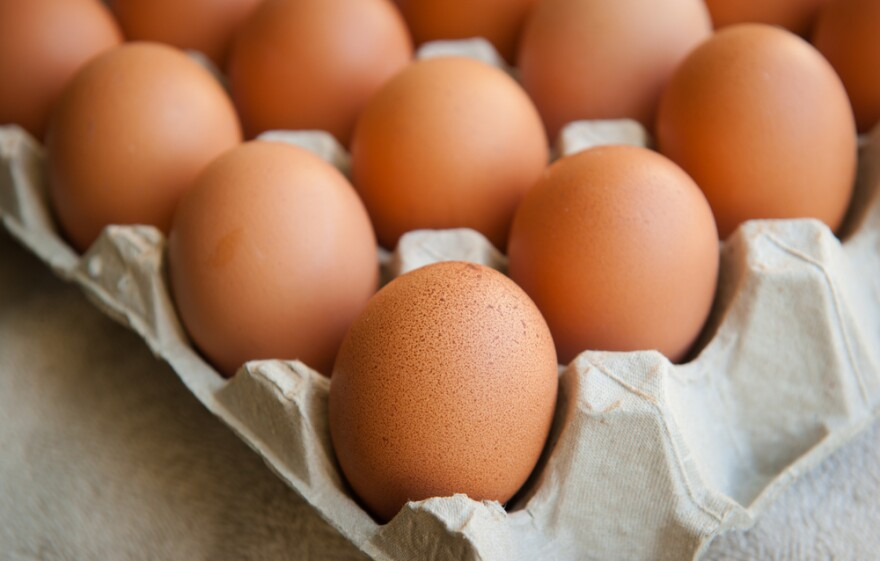 Whole eggs contain dietary cholesterol, but also protein and other nutrients.