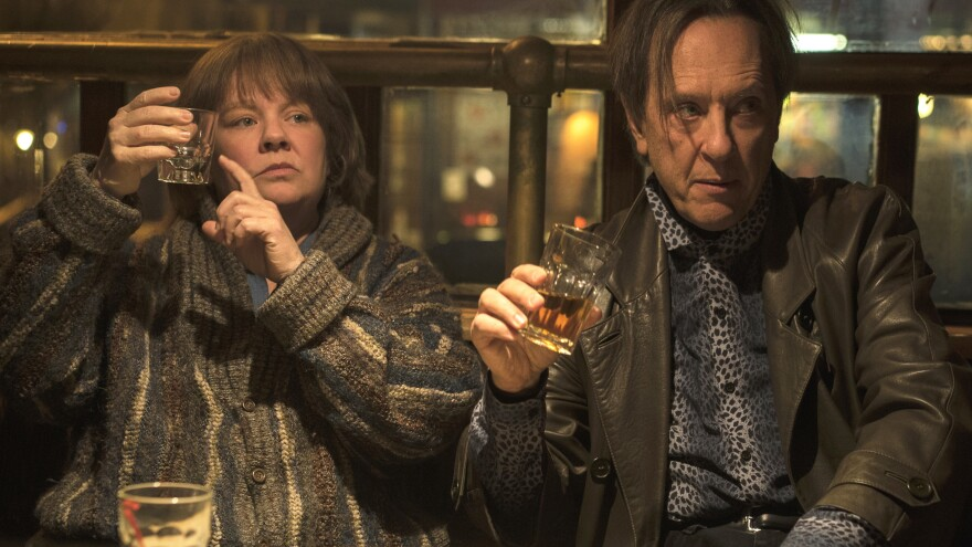 Richard E. Grant plays Jack Hock, the sidekick to literary forger Lee Israel (Melissa McCarthy) in <em>Can You Ever Forgive Me? </em>