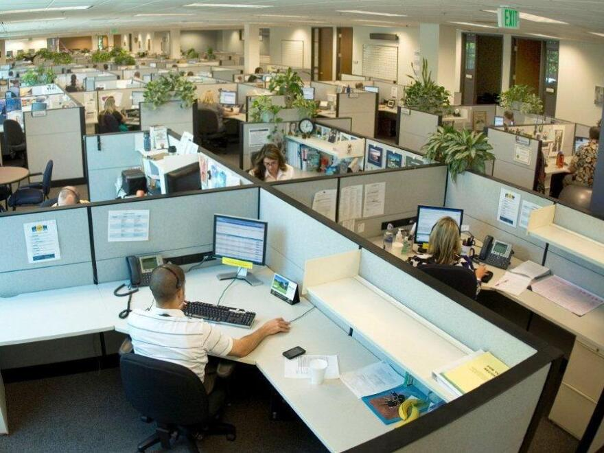 Workers at the eHealth call center outside Sacramento, Calif., get ready to sell health insurance through the marketplaces created under the federal health care law. Sales start Oct. 1.
