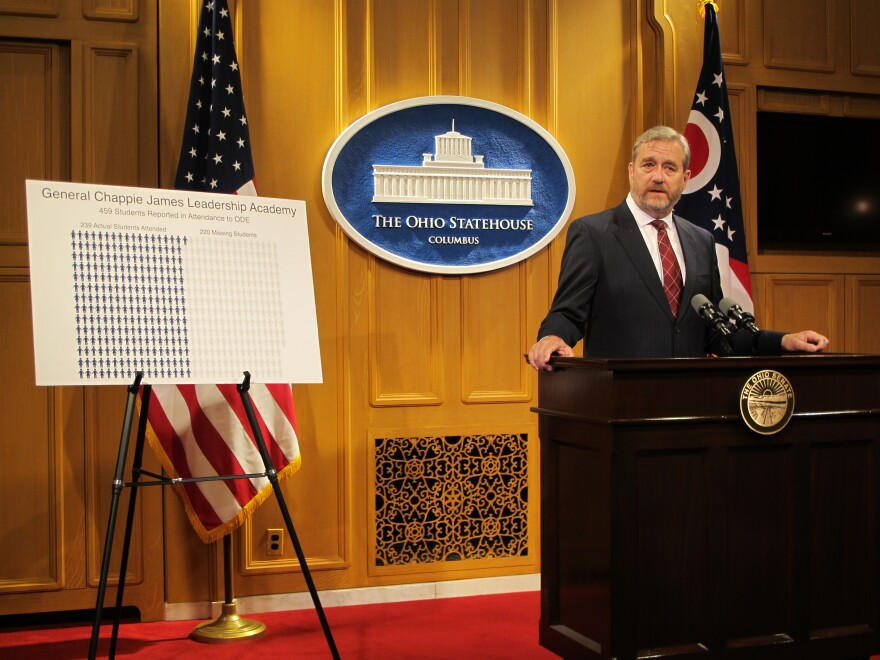 State Auditor Dave Yost says charter school padded attendance.