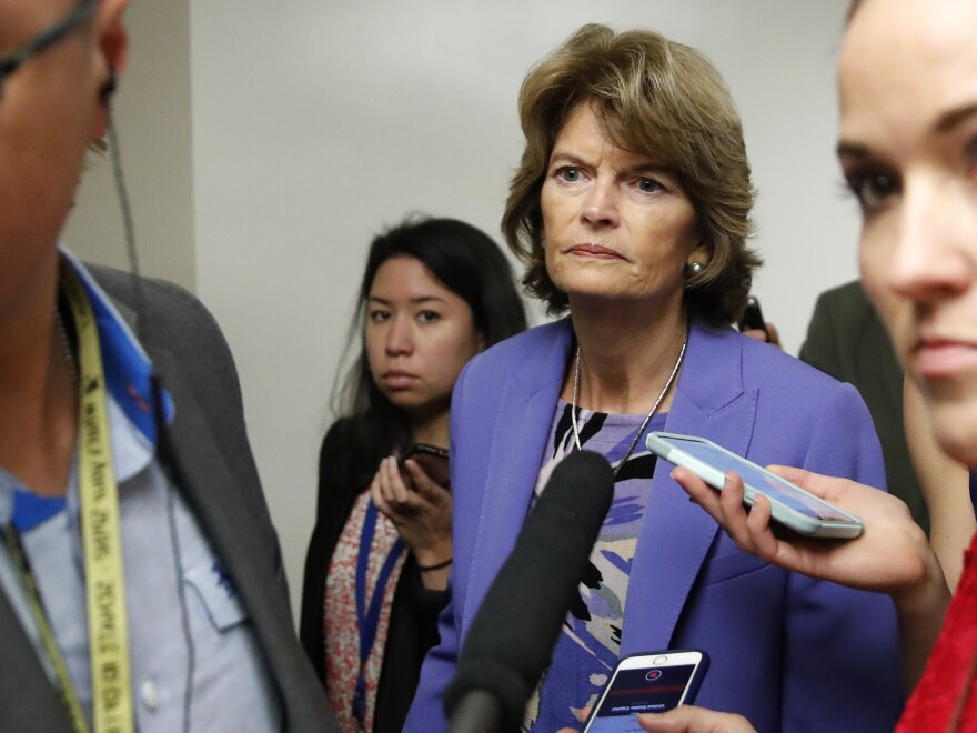 Sen. Lisa Murkowski, R-Alaska, is one of the senators who have not announced a decision on Brett Kavanaugh's nomination to the Supreme Court.