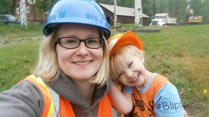Mamie Brown, a lawyer in Fairbanks, Alaska, takes a selfie with her son, Edward. She has found herself squeezed between work and caring for her two kids during the coronavirus pandemic.