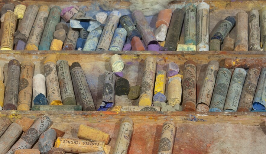 """Six years before Cassatt died she gave these boxes of chalk pastels to Electra Webb Bostwick, the 10-year-old granddaughter of her New York friend and patron Louisine Havemeyer. <a href=""""http://media.npr.org/assets/img/2014/09/22/marycassattpastels-05_archive.jpg"""">Click here for a closer look.</a>"""
