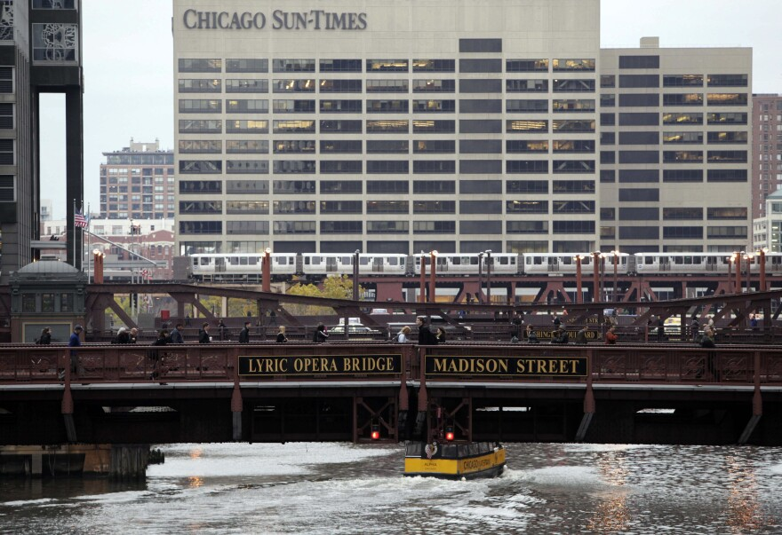 The company that operates the Chicago Tribune has announced it is interested in owning its rival, the Chicago Sun-Times.