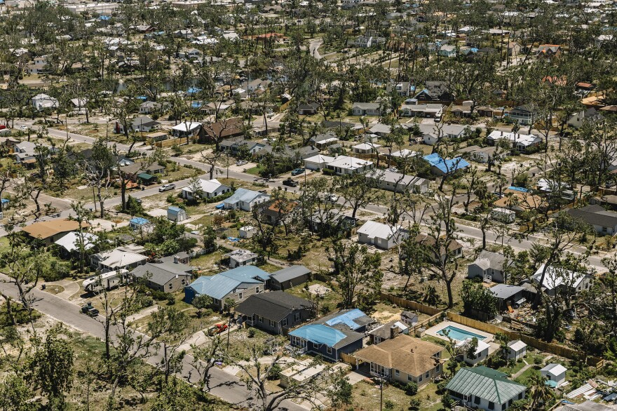 Much of Lynn Haven, Fla., still shows signs of catastrophic damage from last year's Category 5 hurricane. Nearly eight months later, the region is still in the early stages of recovery.