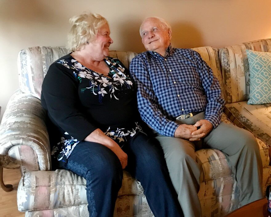 "Carol and Lloyd Bates in Denver, Colo. ""I understood very well the dangers of having a gun in the house and what it could lead to,"" says Lloyd. So, after his dementia diagnosis, they locked away his Colt .45-caliber revolver."