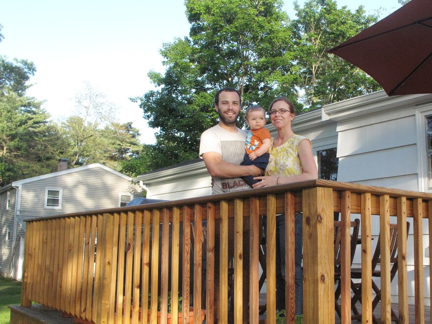 Jared and Emily Medeiros purchased their Sharon, Mass., home when they realized it had become more affordable to buy than in recent years.
