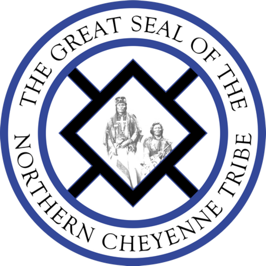 The tribal seal of the Northern Cheyenne Tribe