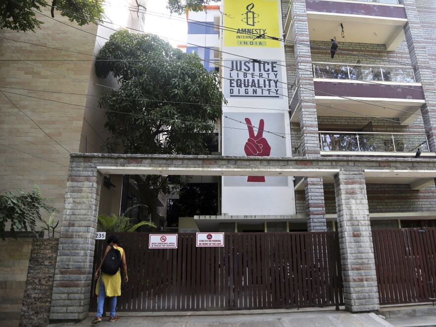 The rights group, whose Bengaluru office is shown here in 2018, said Tuesday that it will halt its work in India.