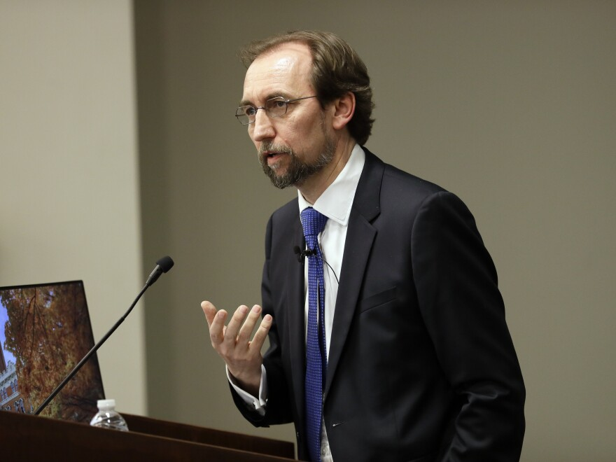 """U.N. human rights chief Zeid Ra'ad Al Hussein has called Myanmar's treatment of the Rohingya a """"textbook example of ethnic cleansing."""""""