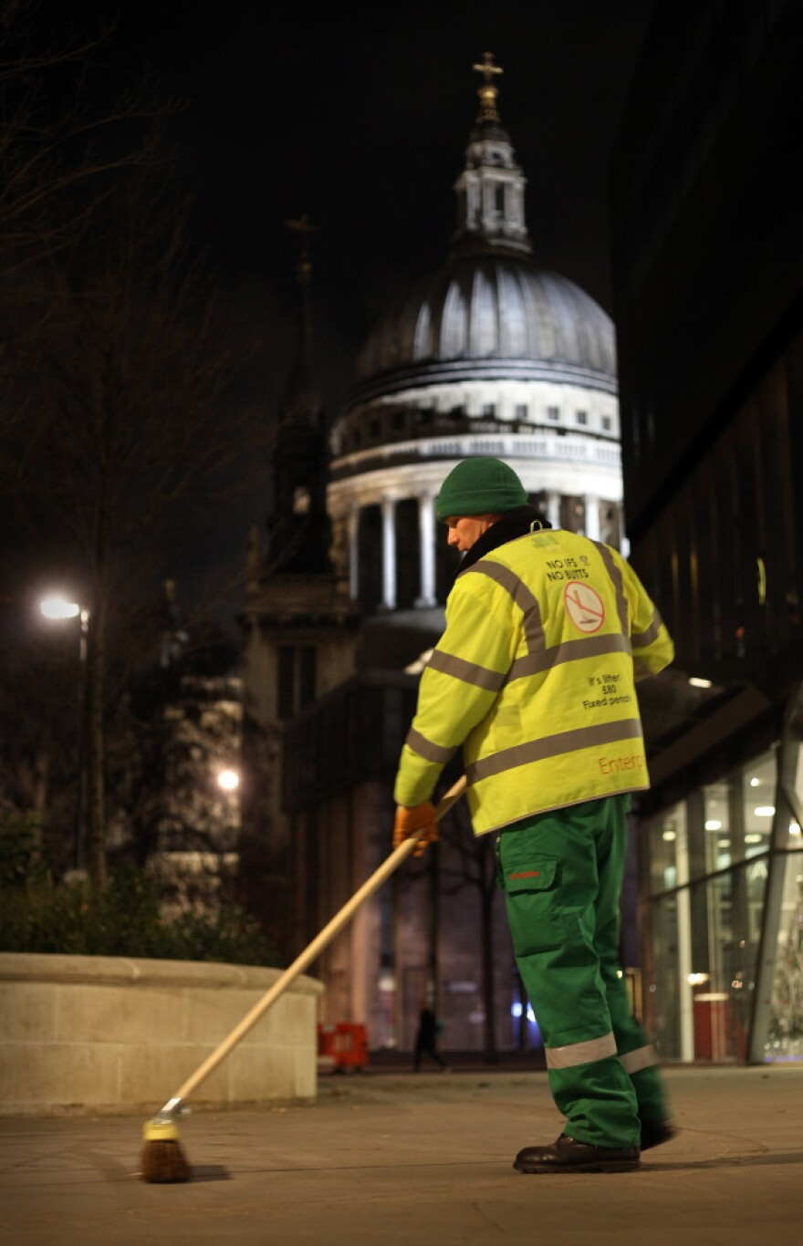 London street sweeper Jeff Fowler works on shifts that finish at 6 a.m. Researchers say getting enough sleep before a night shift starts is important for staying up.