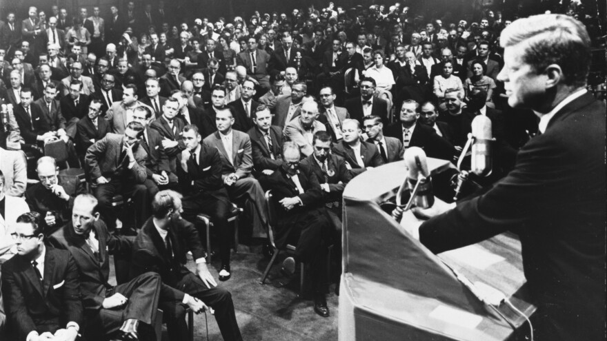 In 1960, then-presidential candidate John F. Kennedy spoke to a group of Protestant ministers about the issue of his religion. At the time, many Protestants questioned whether Kennedy's Catholic faith would allow him to make important national decisions as president — independent of the church.