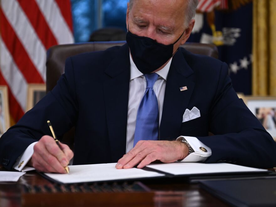 President Biden plans to sign another series of executive actions on his second day in office — focused on dealing with the COVID-19 pandemic.