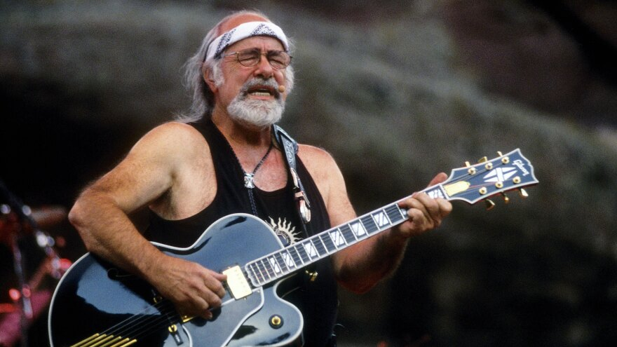 Robert Hunter, performing at Red Rocks Amphitheater on Aug. 9, 2002.