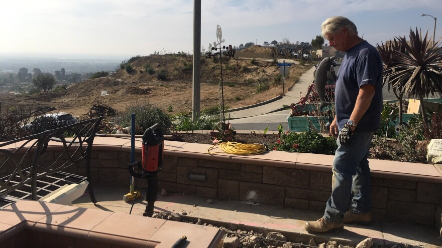 Ed Fuller and his wife, Sandra, are rebuilding their Ventura, Calif., home after it was destroyed in last year's Thomas Fire.