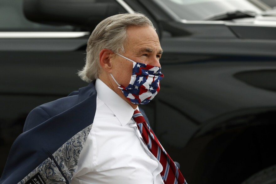 Texas Gov. Greg Abbott in late June. He announced a statewide mask order on July 2.