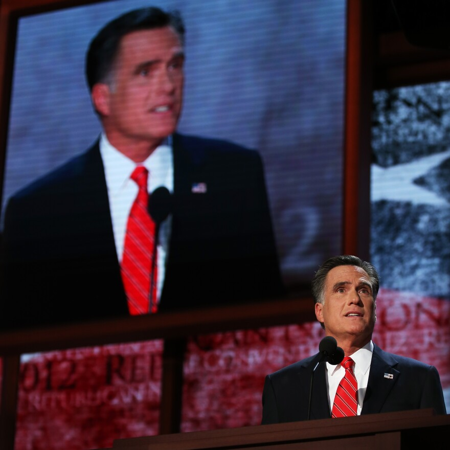 Mitt Romney delivers his acceptance speech Thursday at the Republican National Convention.